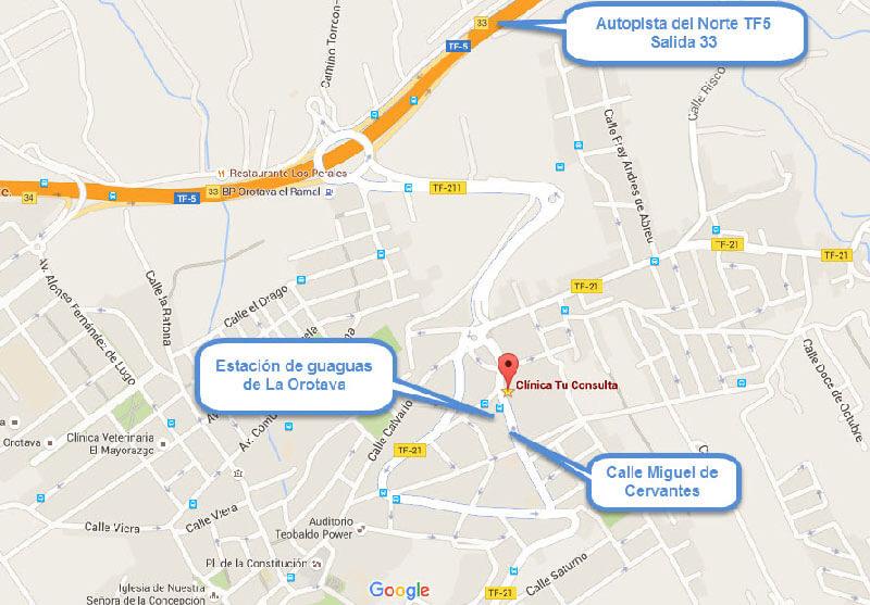 Mapa Clinica Tu Consulta con Indicaciones